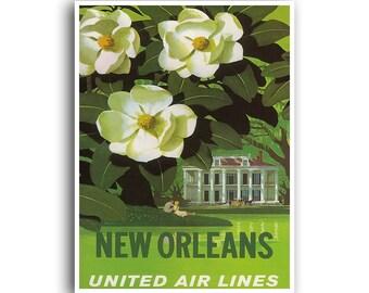 New Orleans Souvenir Art Print Travel Poster Vintage Home Decor (XR861)