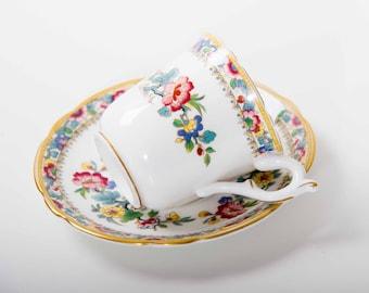 Vintage Coalport Ming Rose china demitasse cup and saucer
