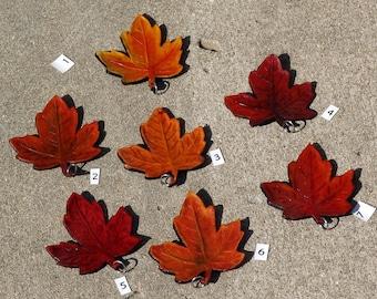 Maple Leaf Leather Pendant