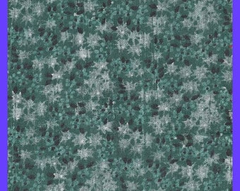 ON SALE Green Floral Fabric Cotton Calico Yardage Quilting Sewing