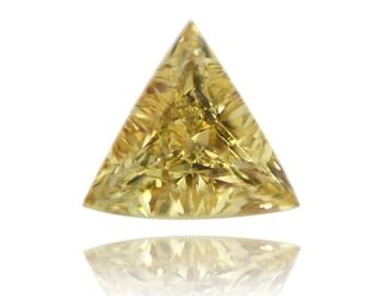 Champagne Trillion Cut RARE 2.27 Carat Natural Champagne Color VS1 Clarity DGI Certificate Loose Diamond For Trillion Cut Wedding Ring
