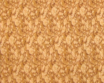 Garden Tonal Riverbed Rocks Brown - Timeless Treasures Cotton Fabric YARDS
