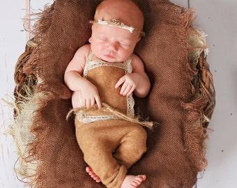 Burlap Blanket Photography Prop Burlap Layering Newborn Baby Photo Prop Mini Burlap Blanket   Organic Photography Props New Baby Photo  Prop