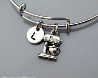 Kitchen Mixer bangle, Mixer bracelet, kitchen appliance, Food mixer, Expandable bangle, Personalized bracelet, Monogram, Initial bracelet