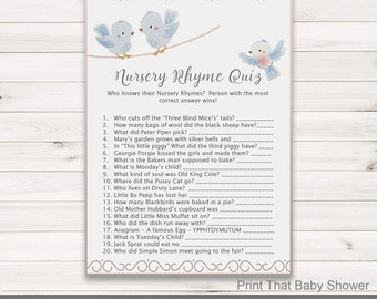 The One Where Nursery Rhyme Quiz Baby Shower Games Guess The