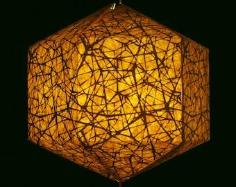Brownfolds Nest Texture Brown Paper Lantern