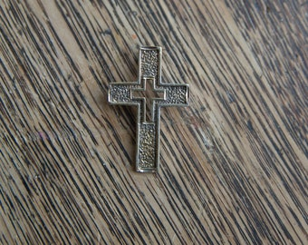 Sterling Silver Gold Plated Cross Pendant