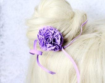 purple hair accessory for bride purple hair jewelry women gifts purple flower jewelry for hair purple gifts girlfriend birthday ideas D4