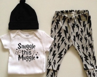 """NEW! Newborn Outfit-""""Muggle"""" Outfit"""
