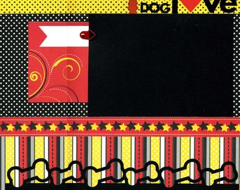 Dog Love - Premade Dog Scrapbook Page