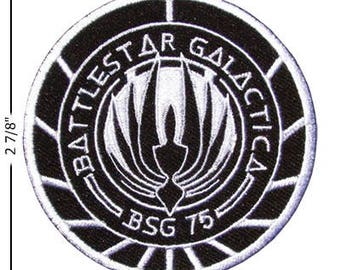 Battlestar Galactica Embroidered Iron On Patch