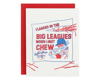 Big League Chew Love Card