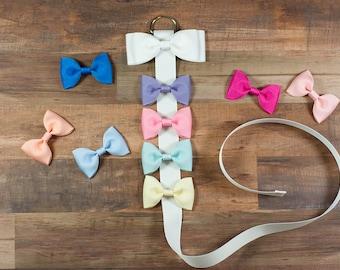 White Hair Bow Holder, Hair Bow Organizer, Bow Holder, Clip Holder