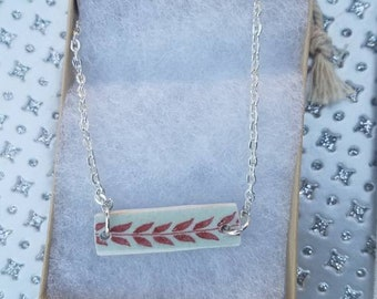 China necklace. Bar necklace. Broken China necklace