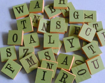 Anagrammes Vintage lettres lettre anagramme anagrammes ensemble de 15 anagrammes en bois