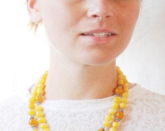 Golden Yellow necklace   Jade necklace   Orange Calcite necklace   Orange necklace   Saffron necklace   Tangerine necklace   Amber necklace