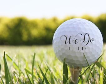 SHIPS FAST, Personalized Golf Balls, Custom Wedding Golf Balls, Golf Photo Prop, Golf Themed Wedding Gift, Wedding Favors, Golf Decor - S10