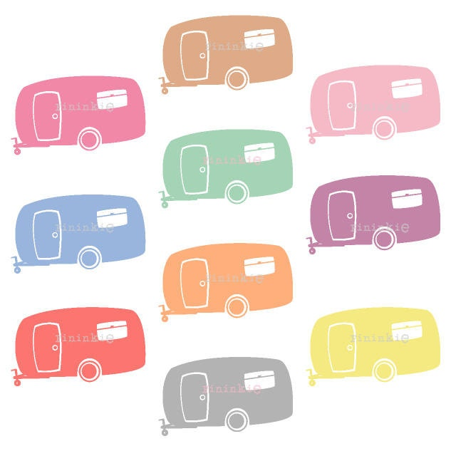 retro clipart summer clipart camping clip art camper rh etsy com rv clipart free downloads motorhome clipart free