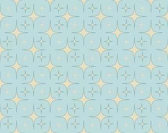 Unicorn Sparkle fabric in Aqua