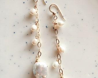 Keshi Freshwater Pearl Earrings