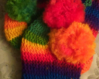 Rainbow slipper boots
