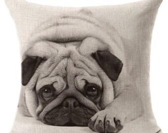 Pug Print Pillow Case