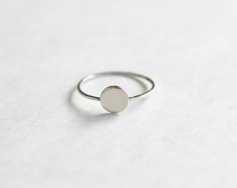 Tiny Circle Ring // Sterling Silver or 14k Gold Filled Ring