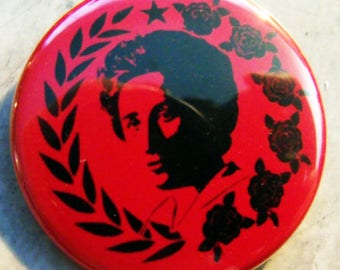 ROSA LUXEMBURG - BREaD & ROSES  pinback buttons badges pack!