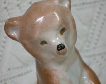 Verbilki Soviet Porcelain Bear. Cute! DFZ Kuznetsov. Vintage Russian Figurine