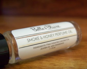 Smoke & Honey Perfume Oil- Honey, Leather, Sweet Tobacco Smoke- Roll On Perfume