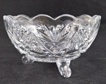 Crystal bowl bonbon bowl table decorartion flower bowl mid century glass mid century crystal