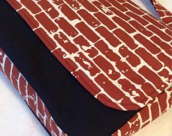 Large Brick Messenger Bag. Red Messenger Bag. Black Messenger Bag.