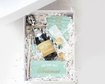 Be My Bridesmaid Box ~ Printable Collection // Mint & Gold // Ask Bridesmaids, Maid of Honor Gift, Bridesmaid Proposal, Bridesmaid Box