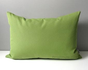 Decorative Green Oudoor Pillow Cover, Modern Pillow Cover, Spring Green Throw Pillow Cover, Solid Green, Ginko Green Sunbrella Cushion Cover