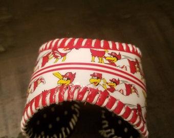 St Louis Cardinals Fredbird Baseball Cuff Bracelet - Cardinals Fan Gear - Fredbird Fan Gear - Cardinals Jewelry