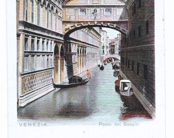 Bridge of Sighs, Venice Photo Postcard, c. 1910