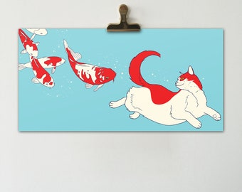 Space Cats Horizontal Print