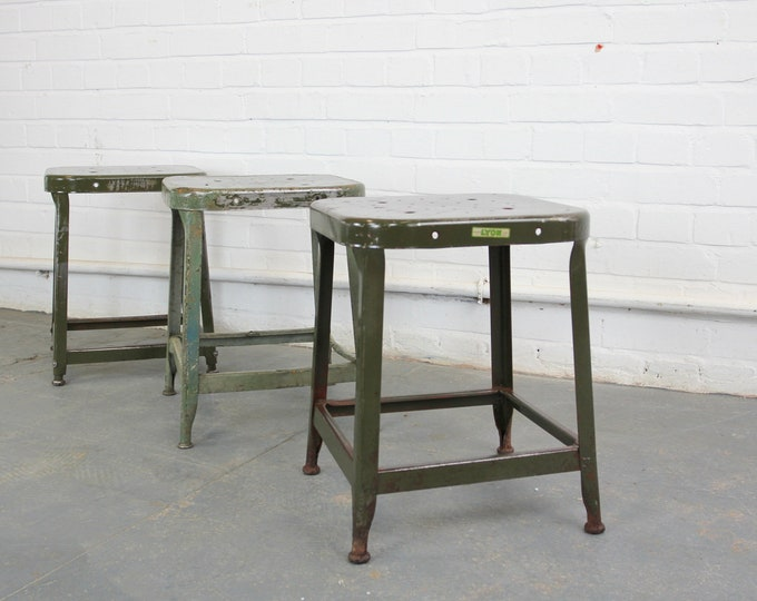 American Industrial Stools By Lyon Circa 1930s
