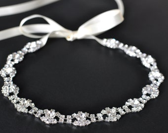 Wedding headpiece, headband, TIFFANY, Rhinestone Headband, Wedding Headband, Bridal Headband, Bridal Headpiece, Rhinestone