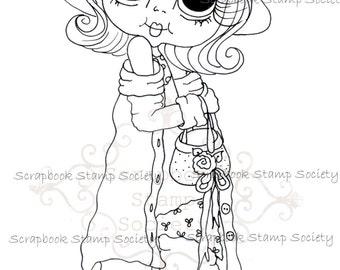 INSTANT DOWNLOAD Digital Digi Stamps Big Eye Big Head Dolls Digi  IMG817 By Sherri Baldy