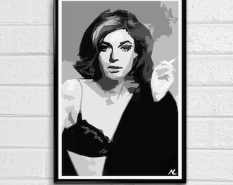 The Graduate Mrs. Robinson Classic Movie Pop Art Film Poster Print Canvas