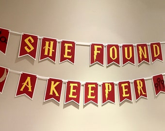 Harry Potter Bridal Shower Theme Banner - She Found a Keeper