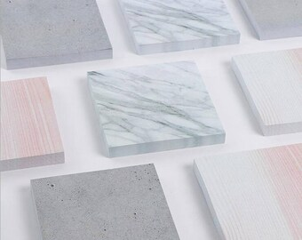 marble sticky notes, concrete postits, industrial post its, architect memo pad school supplies grey marble effect bullet journal accessories