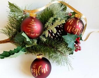 Handlettered ornament | Custom ornament | Calligraphy ornament | glass ornament | Christmas ornament | Personalized ornament | Christmas