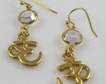 Om Charm Earrings (Small)