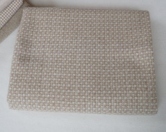 Taupe Waffles - Textured - Wool Fabric - Felted Wool Fabric- 100% Wool