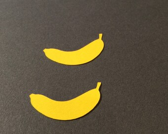 Banana party confetti, 1 inch, 200 pieces