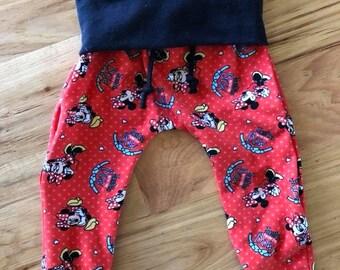 Minnie Mouse Print Harem Pants