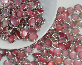 25 Pearl Snap 4 Part No-Sew Size 16 Light Pink