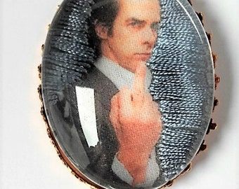 Nick Cave hand embroidered brooch